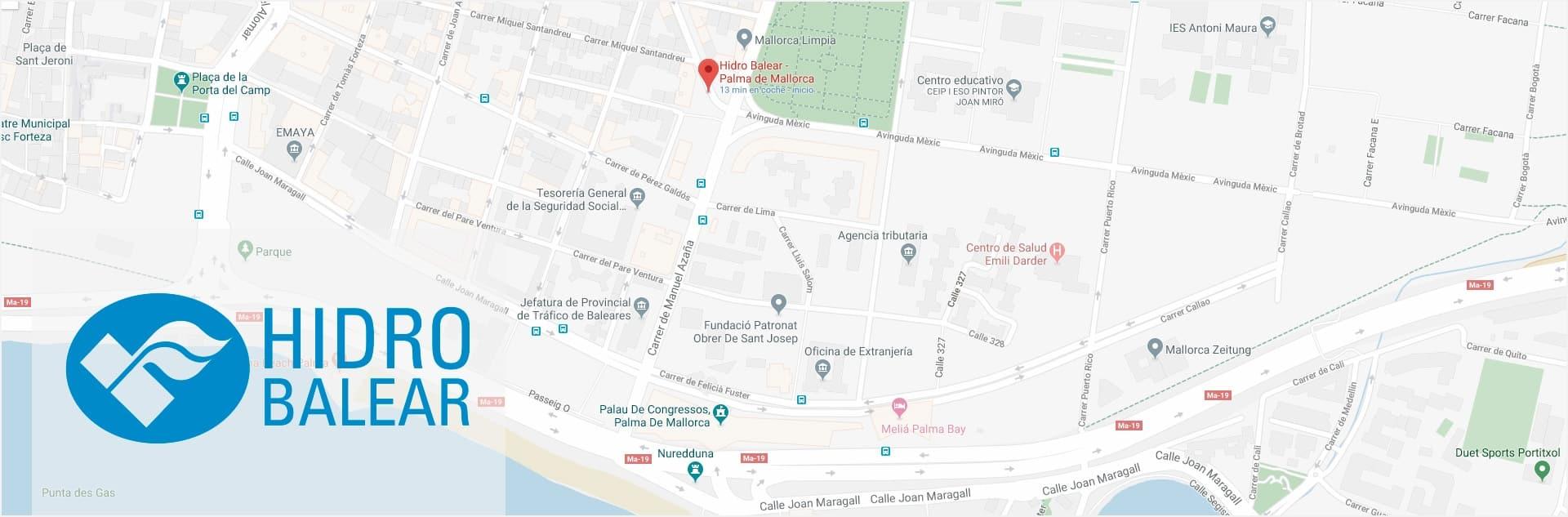 Oficina central, exposición y tienda Hidro Balear Palma de Mallorca